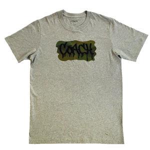 COACH Mens T Shirt F33781 Heather Grey